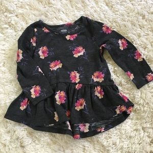 Old Navy toddler floral high low ruffled shirt